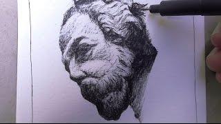Drawing the face of a man - Dibujando la cara de un hombre