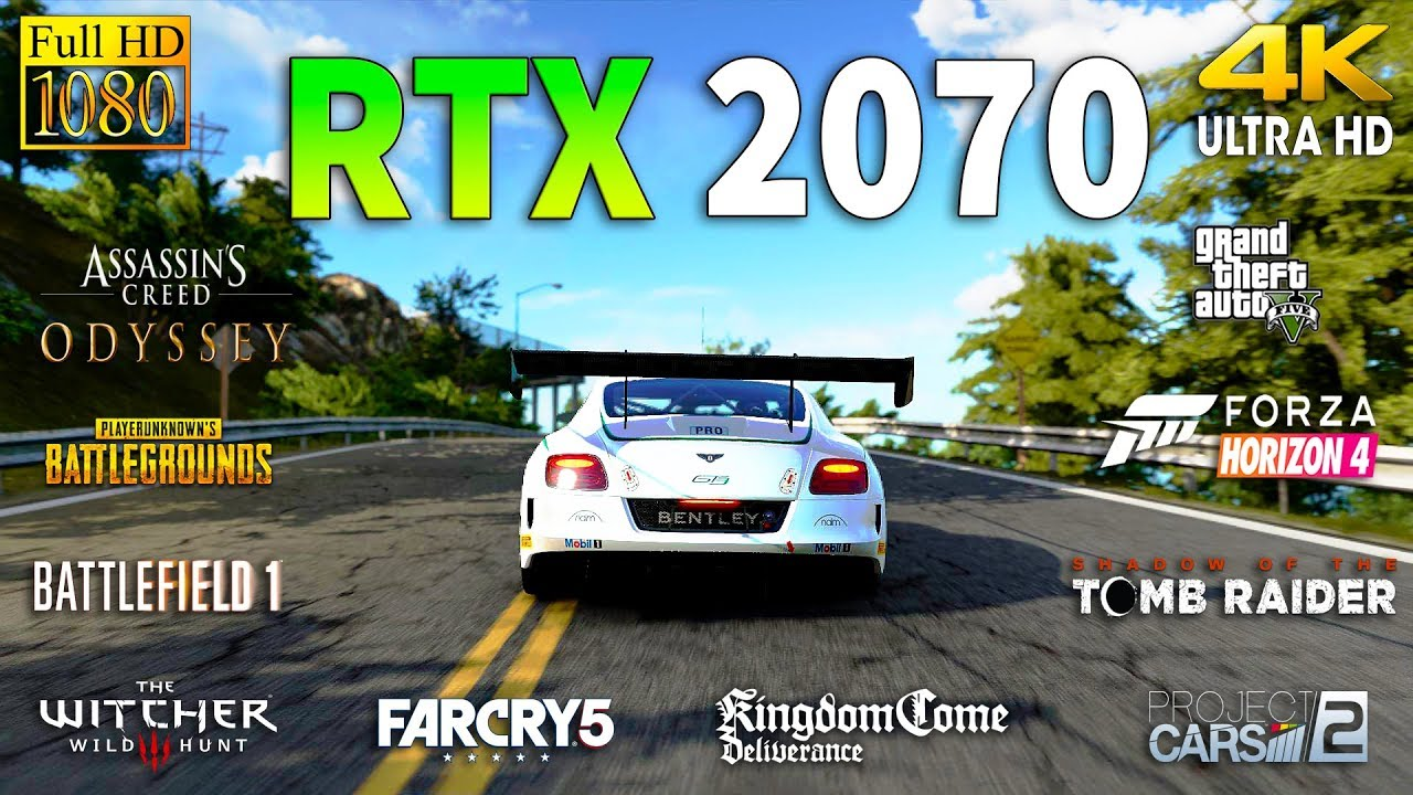 GeForce RTX 2070 Test in 10 Games 1080p and 4K