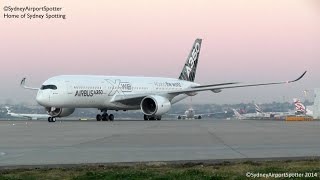 The Airbus A350-900 XWB - First Landing in Sydney on its World Tour