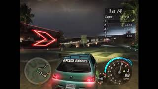 Need For Speed Underground 2 - Hidden/Secret race Circuit #19 - Gameplay