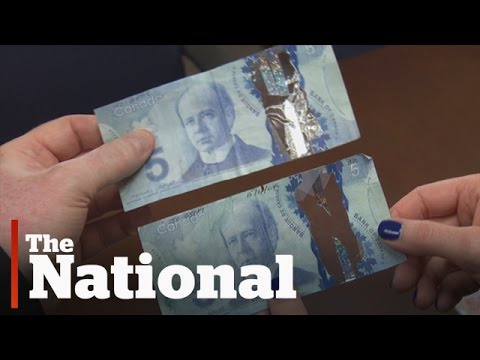 Counterfeiters perplexed by Canada's plastic money