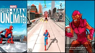 Spider-Man Unlimited gameplay traning stage #1 (мобильная версия) iOs