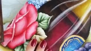 Transparência – Garrafa de vinho – Pintura em tecido Ana Ferrante