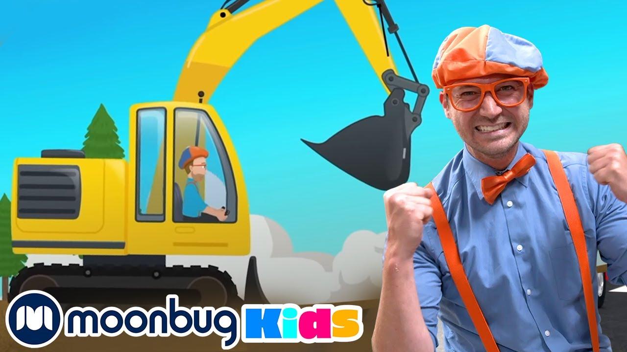 Blippi Explores an Excavator | Blippi Video For Kids | Kids Cartoons & Nursery Rhymes | Moonbug Kids