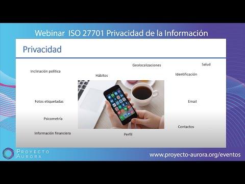 Webinar ISO/IEC 27701 Privacidad e ISO/IEC 27001 Seguridad