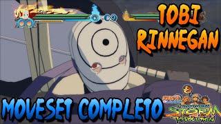Naruto Storm Revolution: Tobi Rinnegan Moveset Completo
