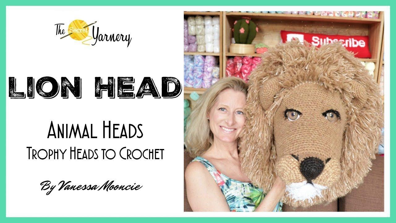 838d0697 Crochet Lion Head - Animal Heads: Trophy Heads to Crochet, by Vanessa  Mooncie