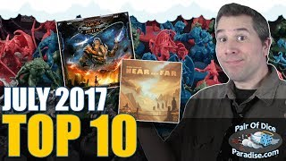 Top 10 most popular board games: July 2017