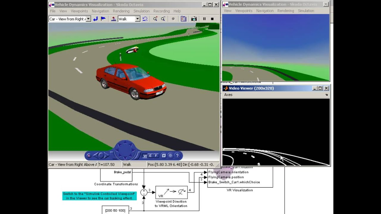 Vehicle Dynamics Visualization with Video Output