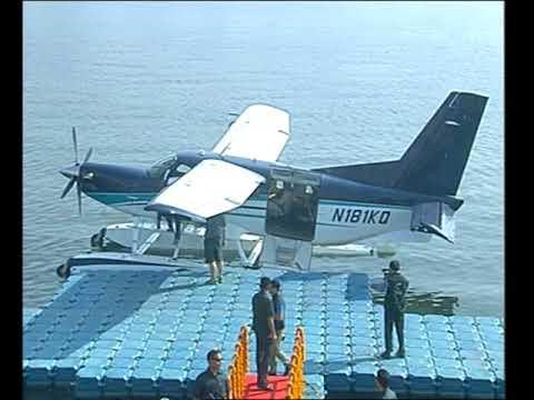 PM Modi travels from Sabarmati River in Ahmedabad to Dharoi Dam via Sea Plane
