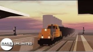 ROBLOX| Driving an express train!| Rails Unlimited