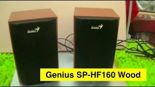Genius SP HF160 Wood Speaker For Desktop PC Unboxing
