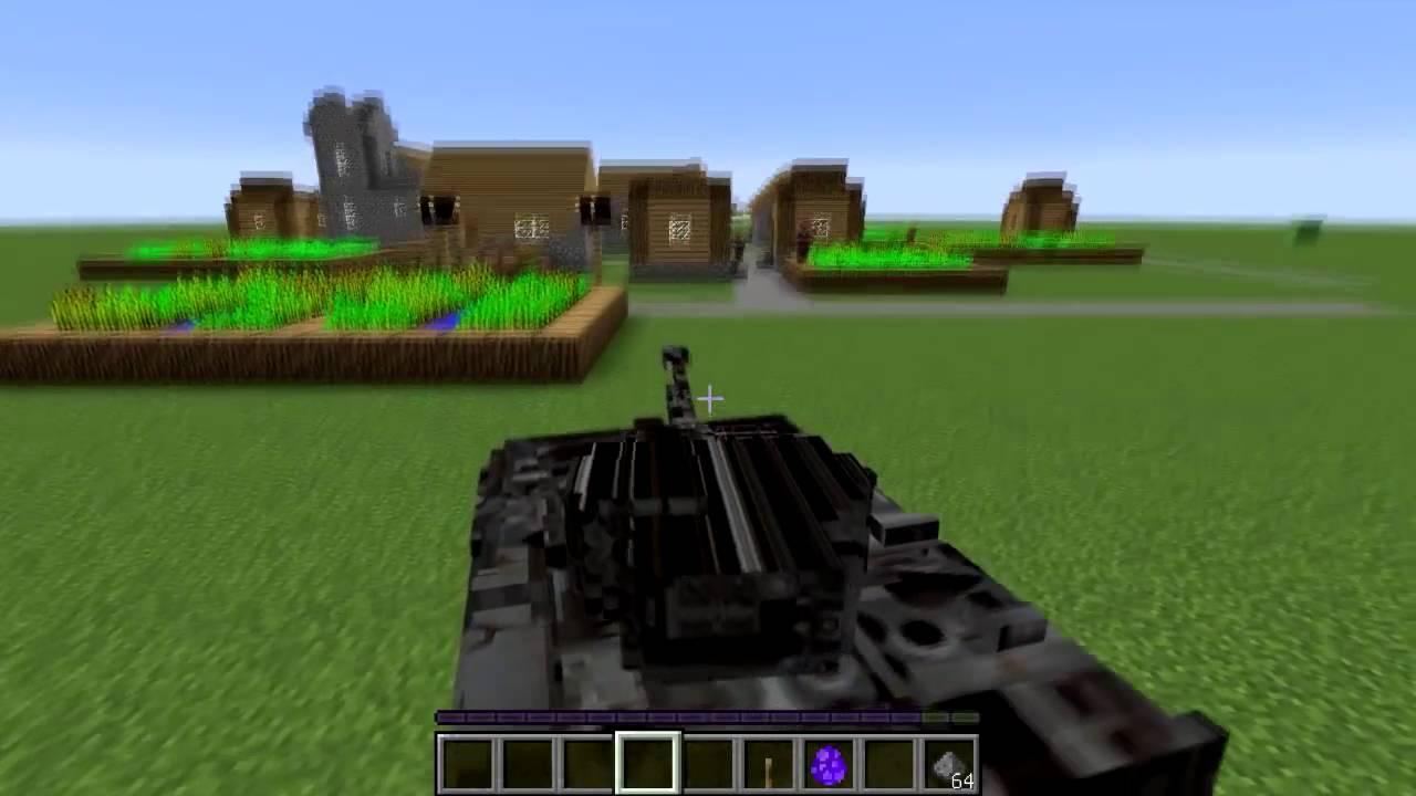 Как сделать в майнкрафте танк который стреляет фото 33