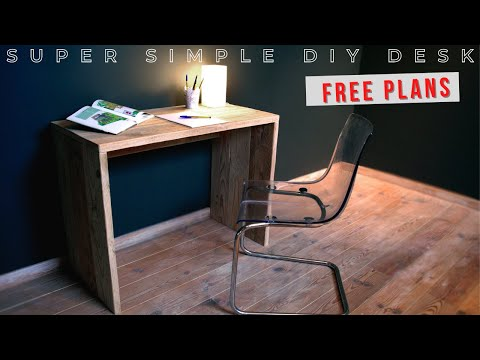 Super simple writing desk | Easy build - Low cost | Making f