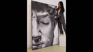 유명한 미술작품 데이비드 팝아트 초상화 현대적인 럭셔리…