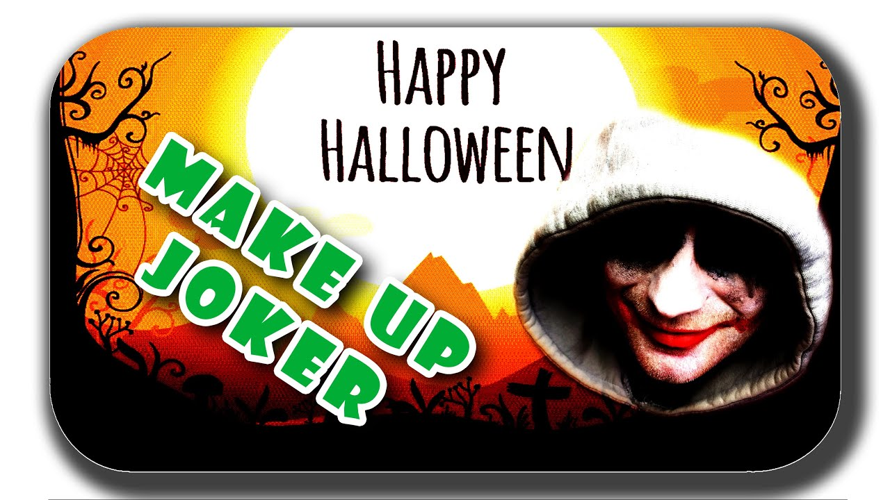 halloween make up deutsch einfach makeup tutorial easy joker schminken m nner jungs. Black Bedroom Furniture Sets. Home Design Ideas