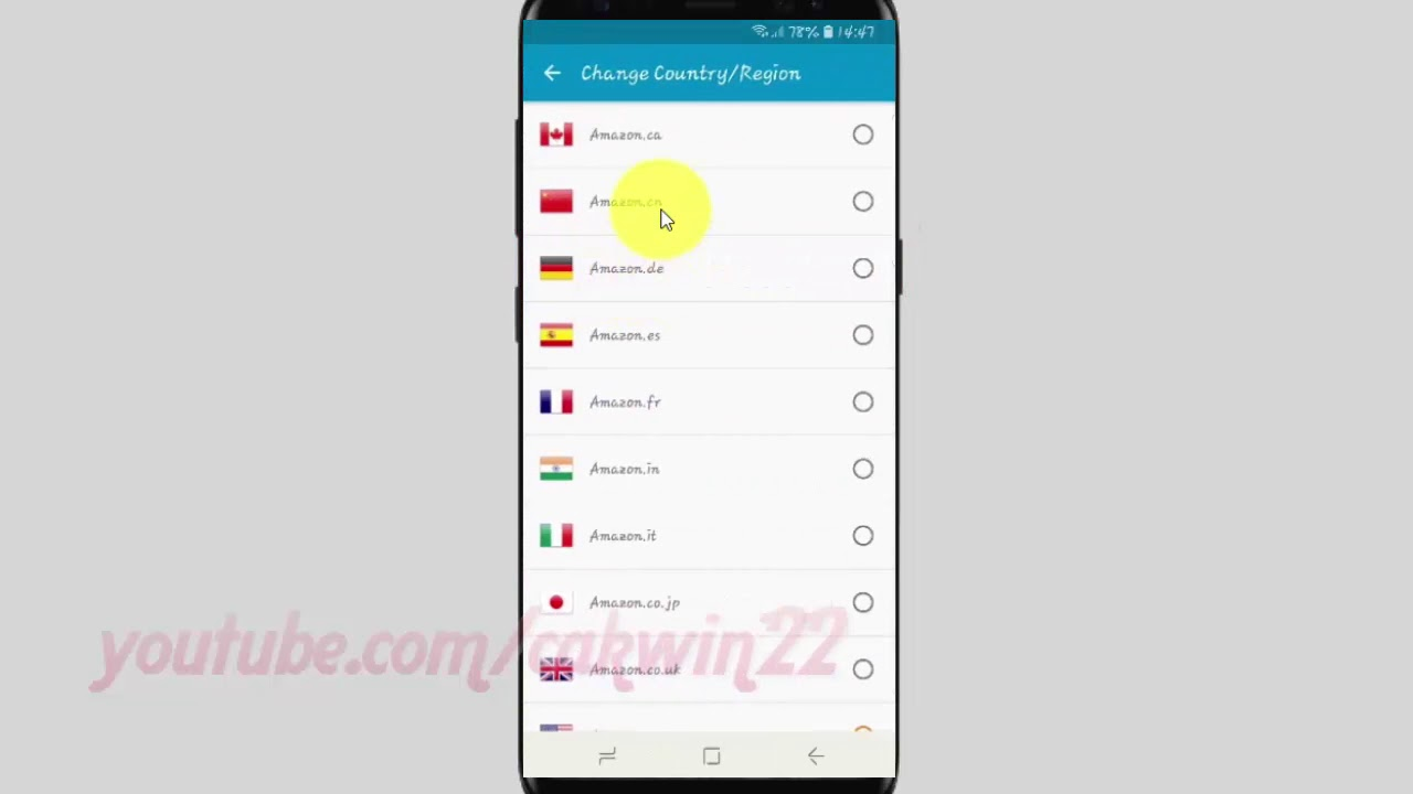 Samsung Galaxy S9 : How to Change country or region in Amazon Assistant