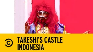 Little Messi Struggles Through The Bee Hive | Takeshi's Castle Indonesia