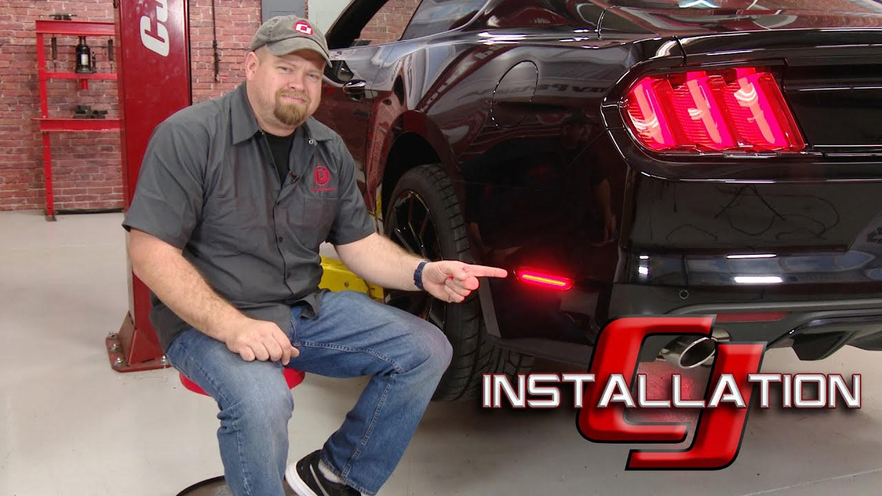 2015 2019 Mustang Led Side Marker Light Rear Pair Installation Youtube 05 Wiring Harness