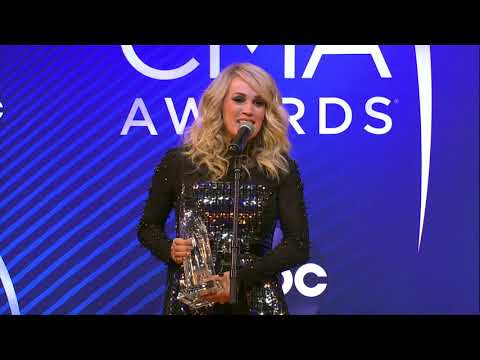 Carrie Underwood Stops By Backstage At The 2018 CMA Awards