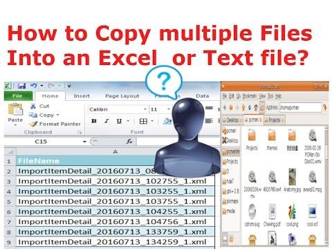 how to copy pdf tex into excel