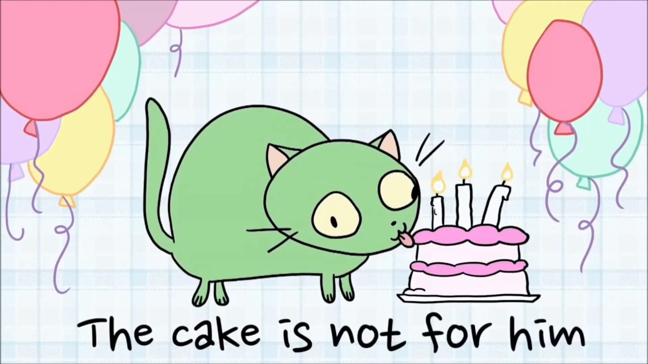 The Best There's A Cat Licking Your Birthday Cake
