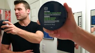 Body Shop Maca Root Shave Cream!