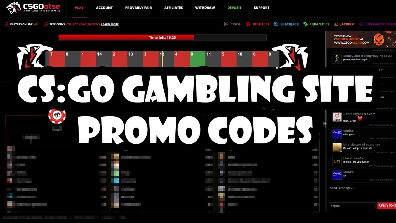 cs go promo codes for gambling sites links and codes in the description youtube. Black Bedroom Furniture Sets. Home Design Ideas