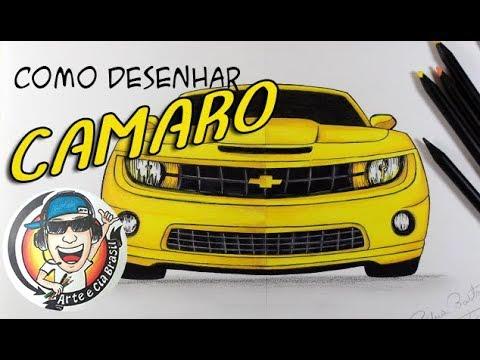 como desenhar carro camaro amarelo passo a passo youtube