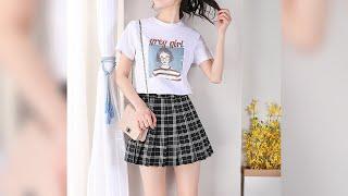 Летняя женская мини юбка с шортами внутри Женская мини юбка шорты