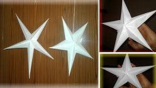 How To Make Christmas Paper Star   Craft Paper star Home decorating#3