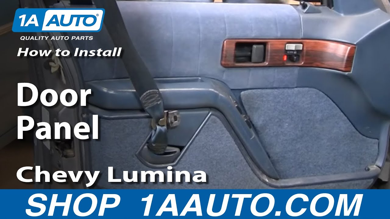 How To Remove Front Door Panels 90 94 Chevy Lumina Part 1