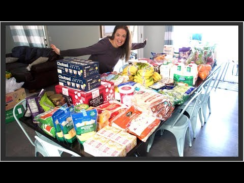 Once-A-Month Grocery Haul for our Large Family Feeding them Healthy Food!