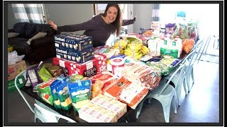 Once A Month Grocery Haul For Our Large Family   Feeding Them Healthy Food!
