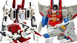 Transformers Siege War for Cybertron Starscream VS Sixgun! #DuDuPopTOY