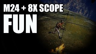 M24 8x Scope Long Range Snipe - PUBG