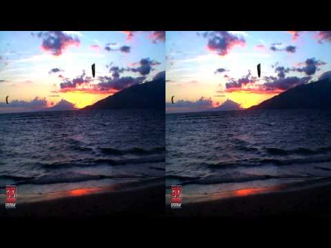 3D Sunset Hawaii Nature Scene FREE 3D Video Everyday N°16