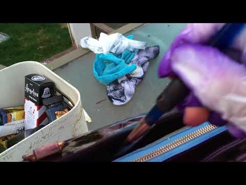 How to dye Louis Vuitton Vernis Houston Street  zipper line