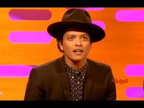 Bruno Mars on The Graham Norton  7th Dec 2012