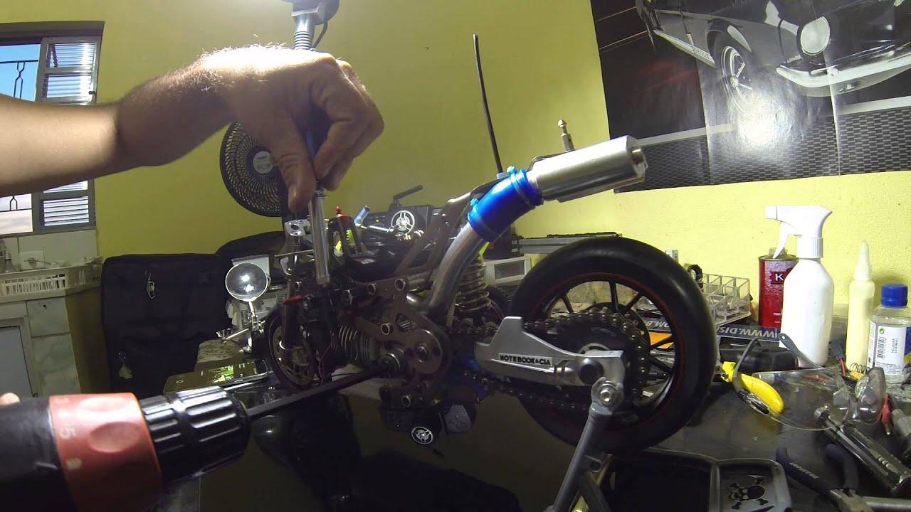 thunder tiger ducati moto rc nitro 1/5 - youtube
