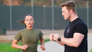 US Marine Attempts the US Army Combat Fitness Test