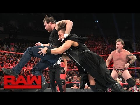 Dean Ambrose & Chris Jericho vs. The Miz and a mystery partner: Raw, April 24, 2017