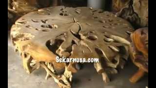 Sekarnusa Teak Meteor Table - Bali, Indonesia