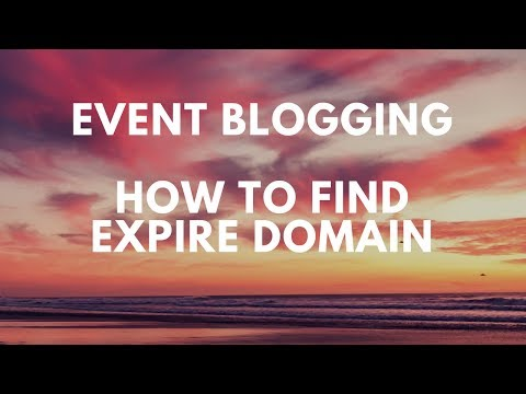 How To find Expire Domain For Event