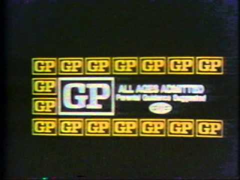 MPAA Ratings for theaters - 1970s!