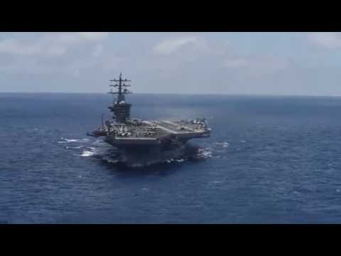 USS Dwight D. Eisenhower (CVN 69) underway in the Atlantic Ocean