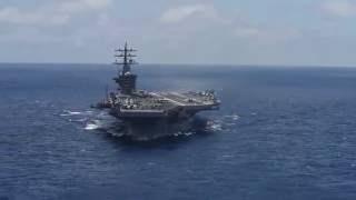 USS Dwight D. Eisenhower (CVN 69) underway in the Atlantic Ocean