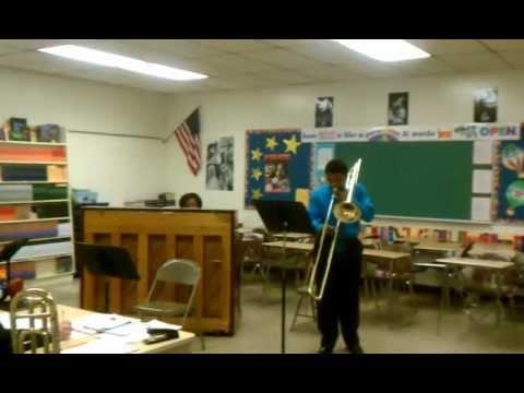 David Mason trombone solo accompanied Mrs. Mason