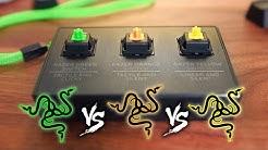 Razer Switch Comparison: Green vs Orange vs Yellow