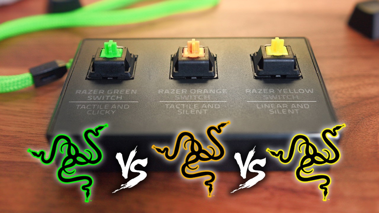 Razer Switch Comparison Green Vs Orange Vs Yellow Youtube